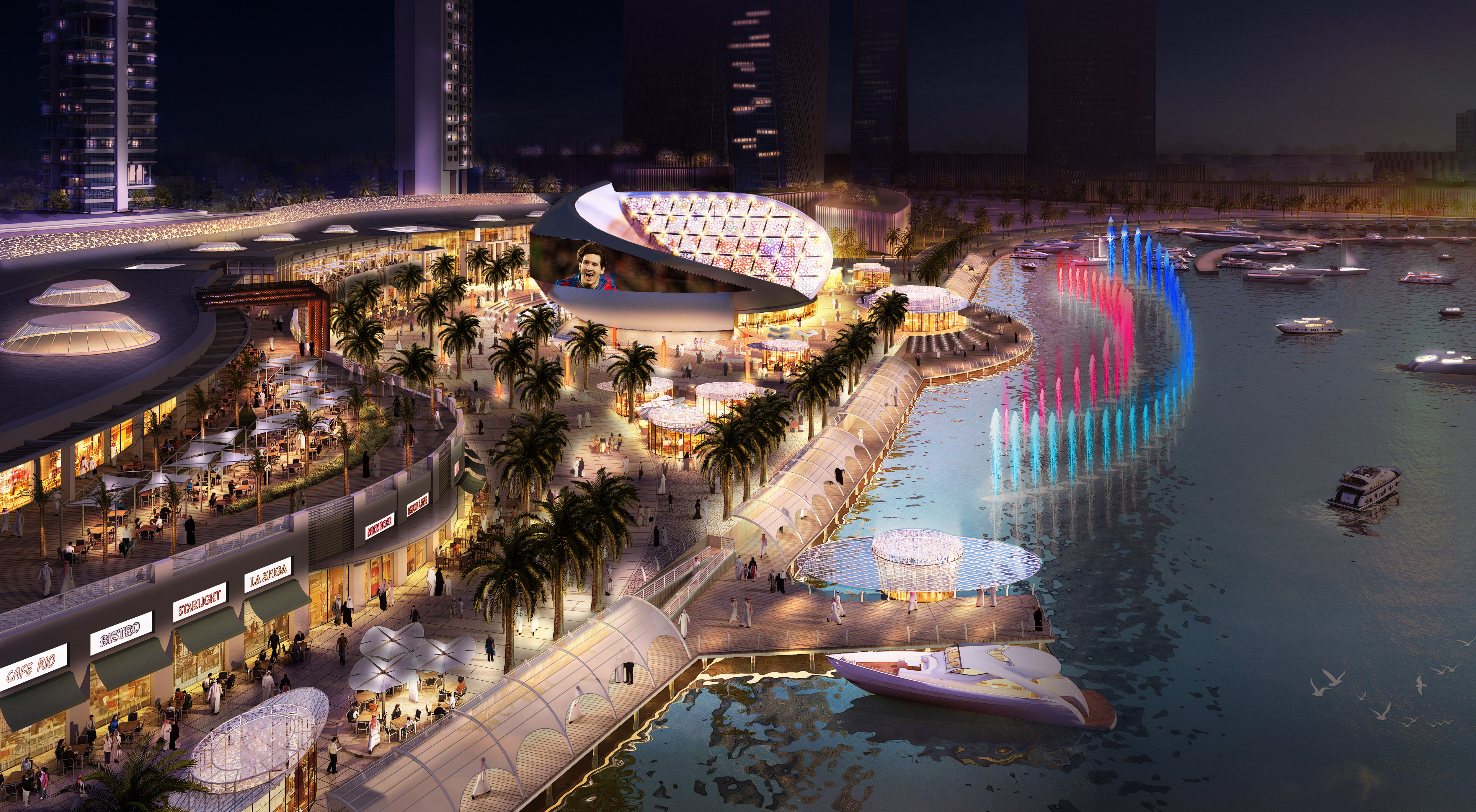 lusail commercial waterfront development